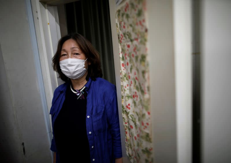 Machiko Nakayama, director of the Tokyo Befrienders call center poses for a photograph during the spread of the coronavirus disease (COVID-19), in Tokyo