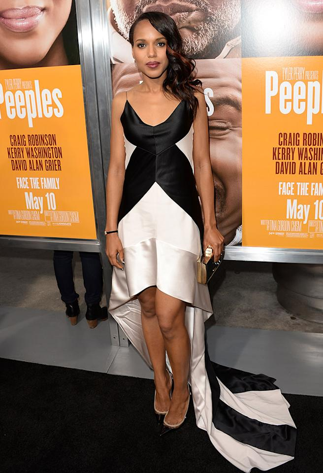 HOLLYWOOD, CA - MAY 08:  Actress Kerry Washington arrives at the premiere of 'Peeples' presented by Lionsgate Film and Tyler Perry at ArcLight Hollywood on May 8, 2013 in Hollywood, California.  (Photo by Jason Merritt/Getty Images)