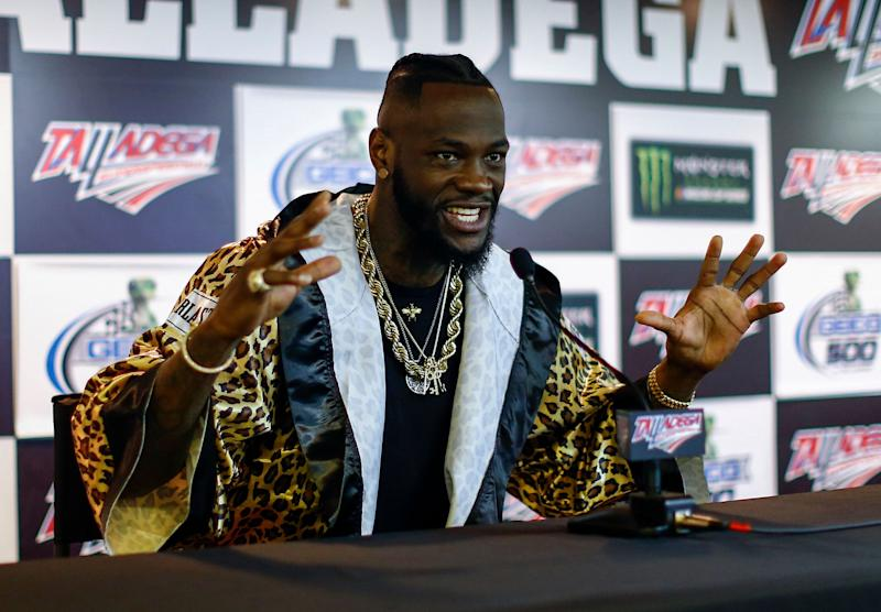 Deontay Wilder's violent rhetoric has resulted in a rebuke from the WBC, but he doesn't seem to care. (AP)