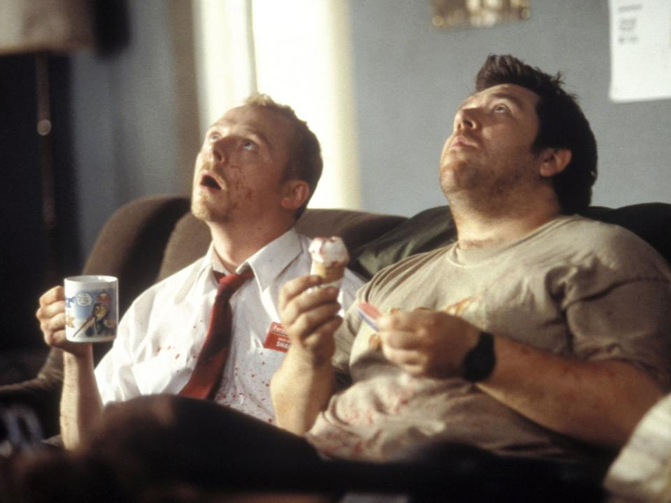 Pegg and Frost in 'Shaun of the Dead'Rex