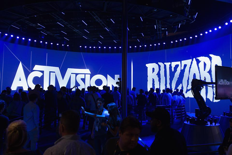 LOS ANGELES, CA - JUNE 11: A view of the Activision Blizzard booth during the 2013 E3 Electronic Entertainment Expo at Los Angeles Convention Center on June 11, 2013 in Los Angeles, California. (Photo by Daniel Boczarski/WireImage)