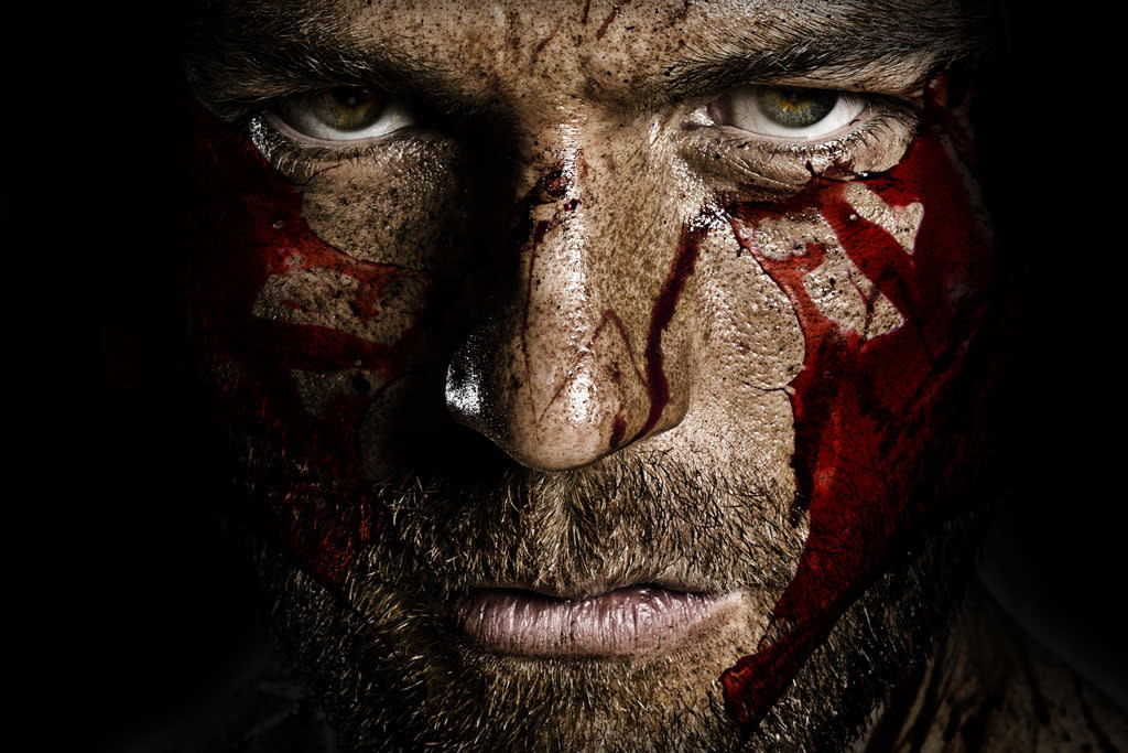 """Liam McIntyre as Spartacus in """"Spartacus: War of the Damned"""" on Starz."""