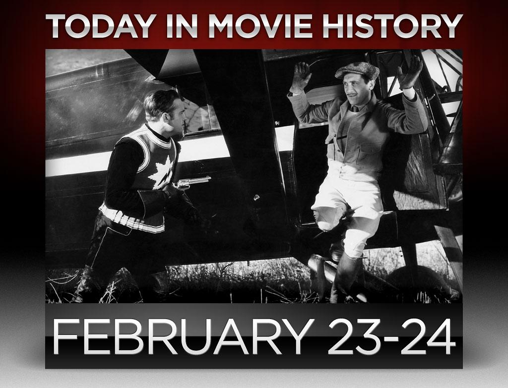 """<strong>1935</strong> – One of the greatest western stars of all time, the original Singing Cowboy Gene Autry garnered his first big screen credit on this day. Autry plays the part of cowboy singer Gene Autry in the genre-jumping science fiction/western """"<a href=""""http://movies.yahoo.com/movie/the-phantom-empire/"""">The Phantom Empire</a>,"""" the first sci-fi serial of the sound era."""