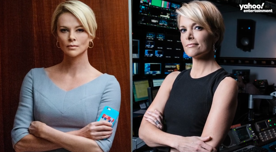 Charlize Theron (left), Megyn Kelly (right)
