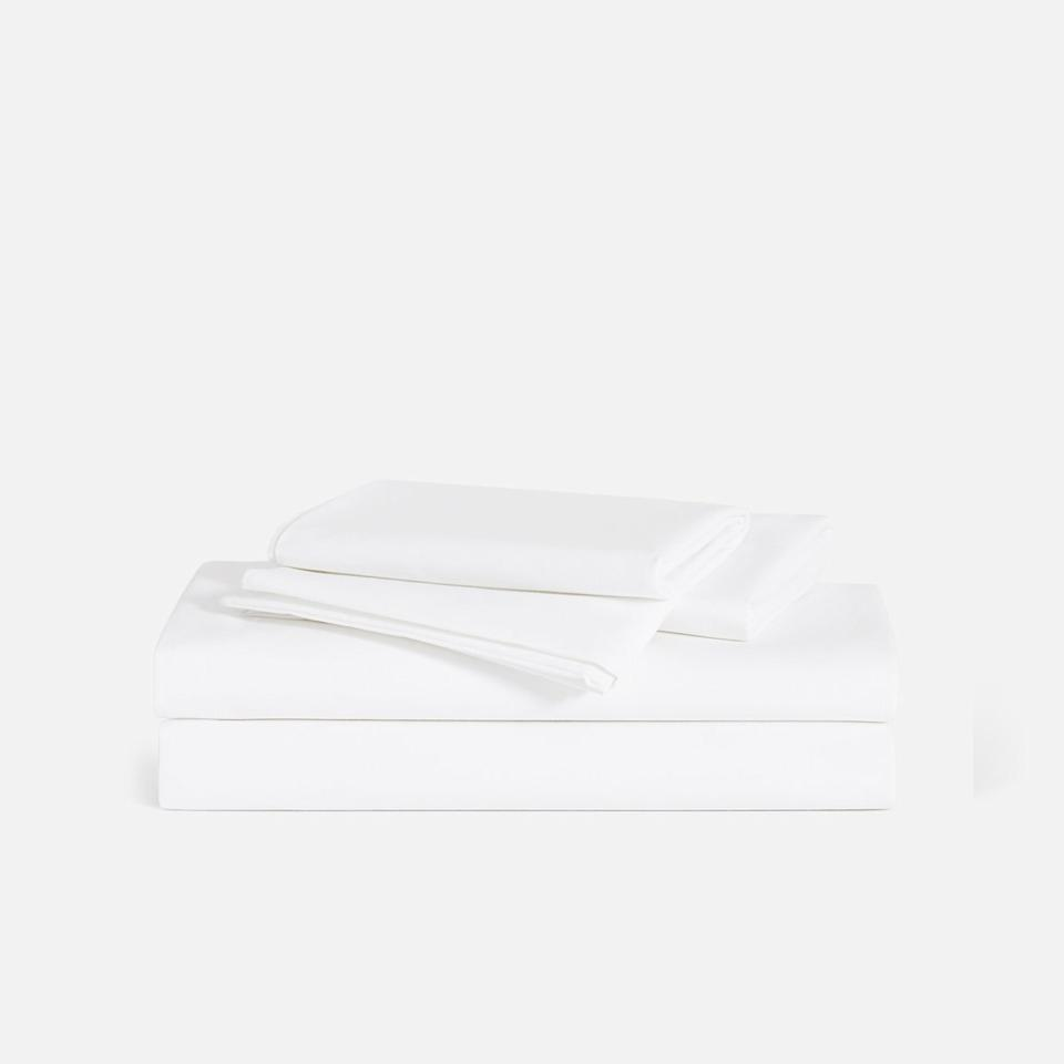 """<h3><a href=""""https://www.brooklinen.com/products/luxe-core-sheet-set"""" rel=""""nofollow noopener"""" target=""""_blank"""" data-ylk=""""slk:Brooklinen Luxe Core Sheet Set"""" class=""""link rapid-noclick-resp"""">Brooklinen Luxe Core Sheet Set</a></h3><br>Brooklinen's bestselling Luxe Core Sheet Set came out as a <a href=""""https://www.refinery29.com/en-us/best-cooling-sheets-reviews#slide-11"""" rel=""""nofollow noopener"""" target=""""_blank"""" data-ylk=""""slk:reader cart-favorite"""" class=""""link rapid-noclick-resp"""">reader cart-favorite</a> for its tried and true cooling qualities — and now it's on super-limited-time sale for 20% off. <br><br><strong>Brooklinen</strong> Luxe Core Sheet Set, $, available at <a href=""""https://www.brooklinen.com/products/luxe-core-sheet-set"""" rel=""""nofollow noopener"""" target=""""_blank"""" data-ylk=""""slk:Brooklinen"""" class=""""link rapid-noclick-resp"""">Brooklinen</a>"""