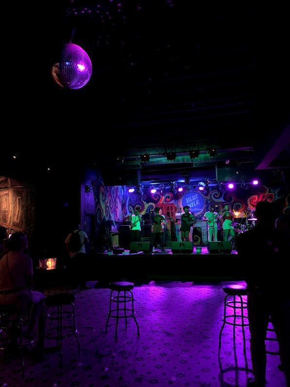 Enjoy all kinds of live music on Frenchmen Street. Find what music is right for you, but it's worth popping into the Blue Nile.
