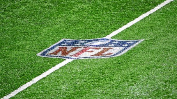 PHOTO: The NFL logo is pictured midfield during a football game.  (Nic Antaya/Getty Images, FILE)