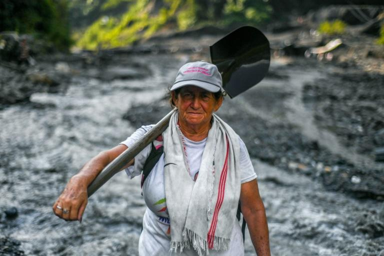 Emerald seeker Blanca Biutrago, a 52-year-old mother of five, hunts for the green gems to support her family