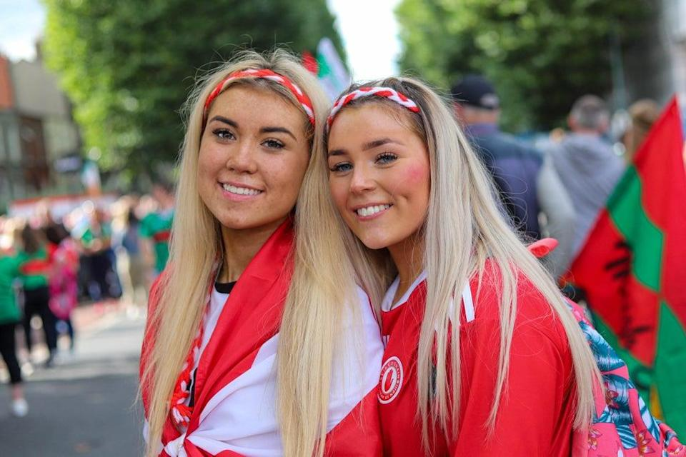 Tyrone Fans arriving at Croke Park, Dublin, ahead of Tyrone taking on play Mayo in the All-Ireland football final (Damien Storan/PA) (PA Wire)