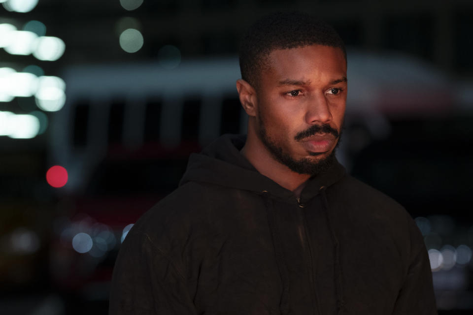 "This image released by Amazon shows Michael B. Jordan in a scene from ""Tom Clancy's Without Remorse."" (Nadja Klier/Amazon via AP)"