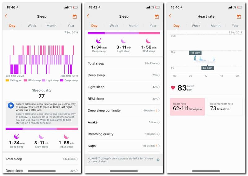 Sleep tracking and heart tracking