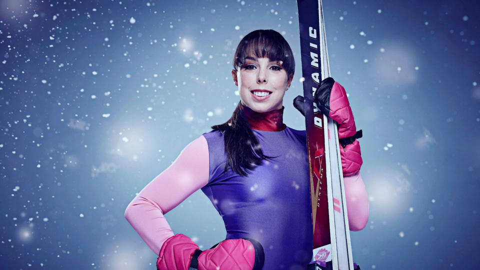Beth Tweddle was seriously injured while performing on 'The Jump'. (Credit: Channel 4)