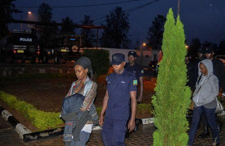 Diane Shima Rwigara, a leading critic of Rwanda's president, is seen after she was arrested by police in Kigali, Rwanda, September 4, 2017. REUTERS/Jean Bizimana