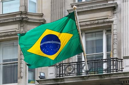 Brazilian shares took off midday on Wall Street.