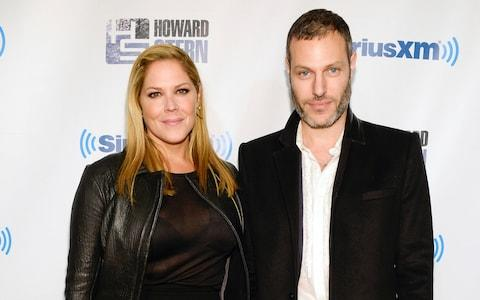 Actress Mary McCormack and husband Michael Morris - Credit: AP