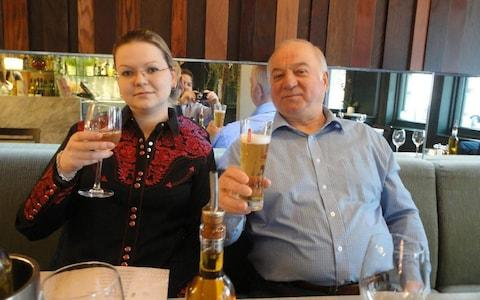 Sergei Skripal with his daughter Yulia - Credit: Social media; EAST2WEST NEWS