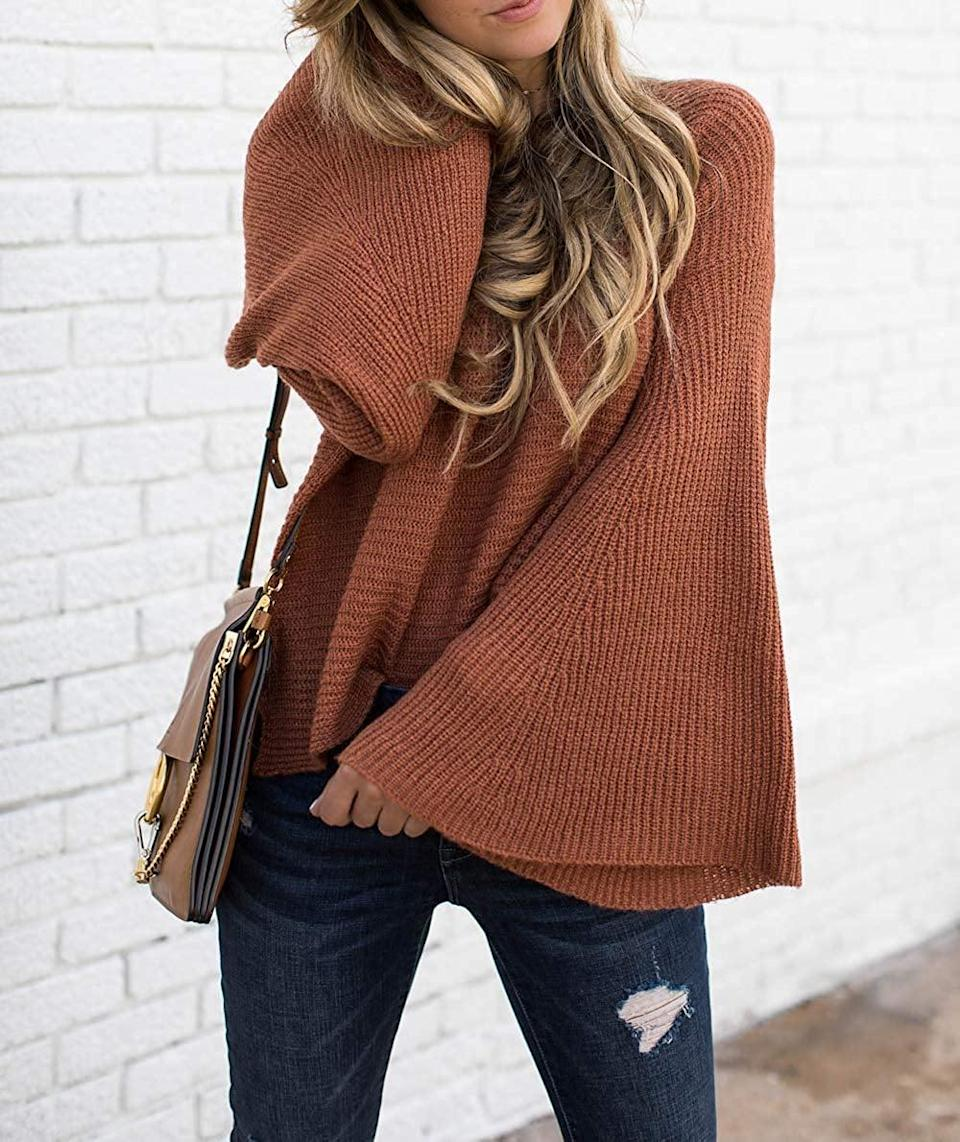 <p>We like the boho vibe of this <span>Hzsonne Bell-Sleeve Sweater</span> ($25).</p>