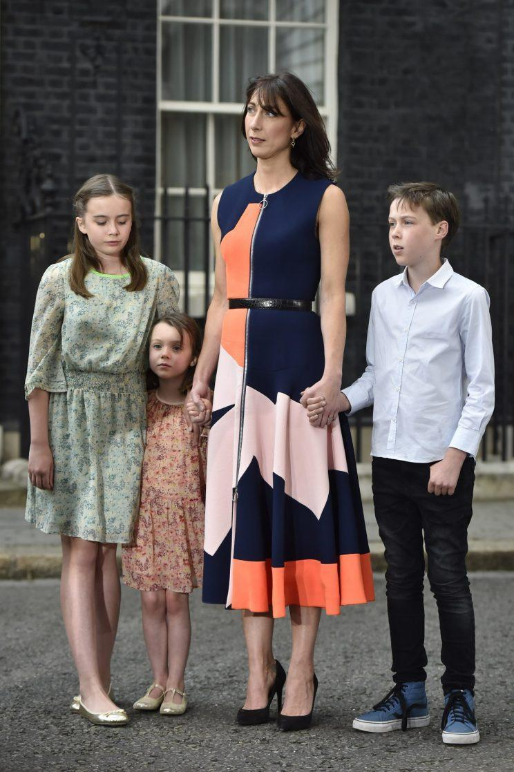 Sam Cam became renowned for her personal style with her last day at No 10 spent in a £1495 Roksanda dress [Photo: PA]