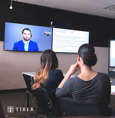 Students attending orientation at St. Thomas University (Miami) while Dr. Ferrahs Abdelbaset, MSMS Coordinator and faculty member, broadcasts from Ponce Health Science University - Saint Louis.
