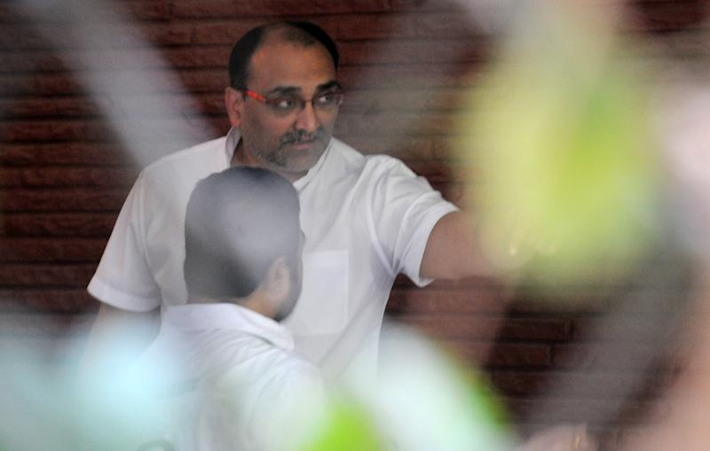 MUMBAI, INDIA November 13: Aditya Chopra at Ravi Chopras funeral in Mumbai.(Photo by Milind Shelte/The India Today Group via Getty Images)