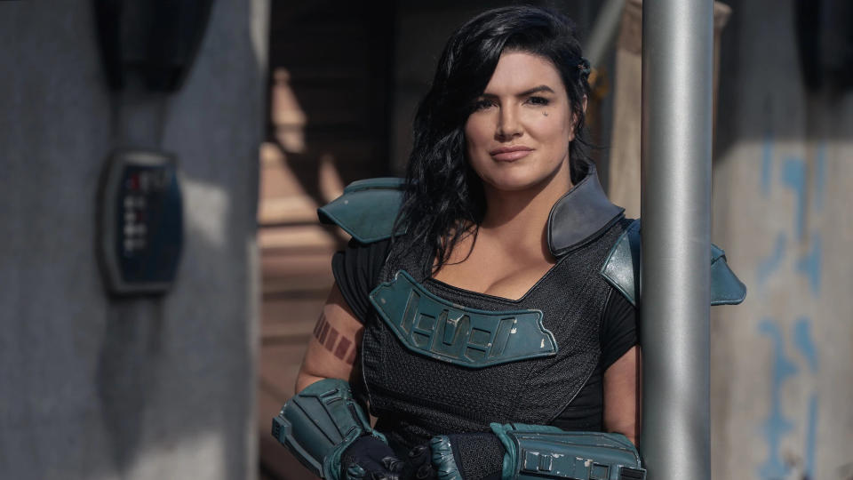 Gina Carano as Cara Dune in 'The Mandalorian'. (Credit: Disney+)