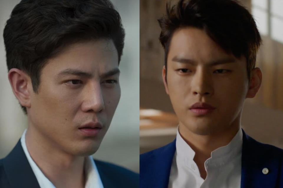 Paopetch Charoensook (left) as the genius Tanwa in Remember You, and Seo In-guk as Lee Hyun, the original character in Hello Monster. (Screenshots: Netflix, Viu)