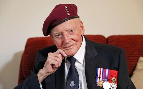 Veteran Harry Read, who is taking part in a parachute drop in Normandy for the 75th anniversary of D-Day - Credit: Steve Parsons/PA