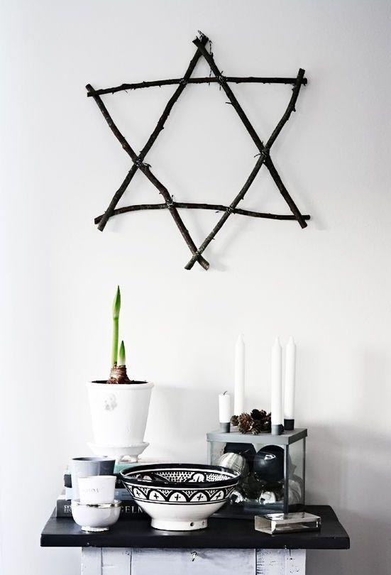 "<p>A branch star has garnered a 248 percent increase in saves this festive season and it's refreshingly simple to recreate.<br>All you need are some branches, paint and ribbon to fasten the pieces together (make sure to check out the <a rel=""nofollow noopener"" href=""https://heltenkelthosmig.blogspot.co.uk/2011/11/i-koket-del-2.html"" target=""_blank"" data-ylk=""slk:blog"" class=""link rapid-noclick-resp"">blog</a> for inspo). <em>[Photo: Pinterest via heltenkelthosmig.blogspot.com]</em> </p>"