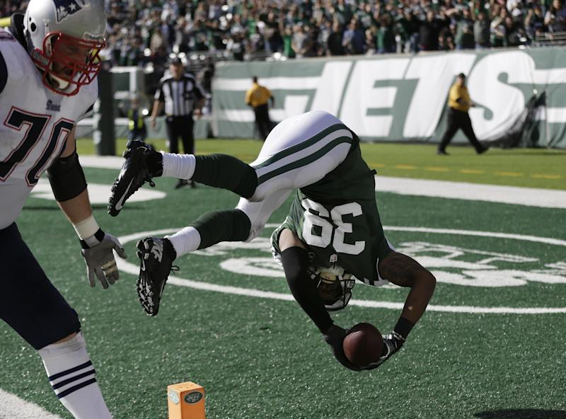 Folk gets 2nd chance as Jets beat Pats 30-27 in OT