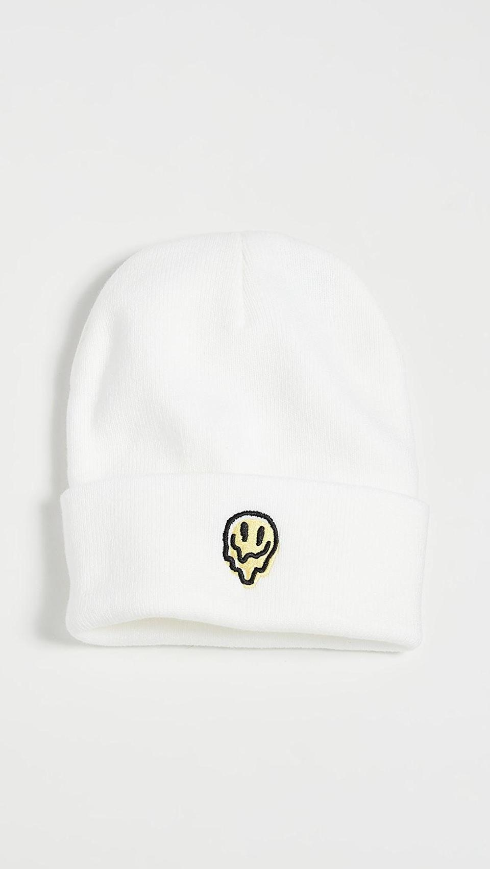 <p>This <span>Brixton Melter Watch Cap Beanie</span> ($22) is kind of fun.</p>