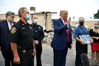 US President Donald Trump surveyed damage from civil unrest in Kenosha, Wisconsin defying Democratic leaders who warned his visit could inflame tensions