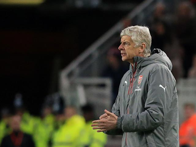 Arsene Wenger issues instructions from the sideline: Getty