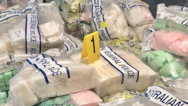 PHOTO: Australian authorities released this image of a massive drug bust which included methamphetamine and heroin. (Australian Federal Police)