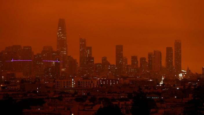 Darkness fell on San Francisco on Wednesday, as smoke from wildfires filled its skies