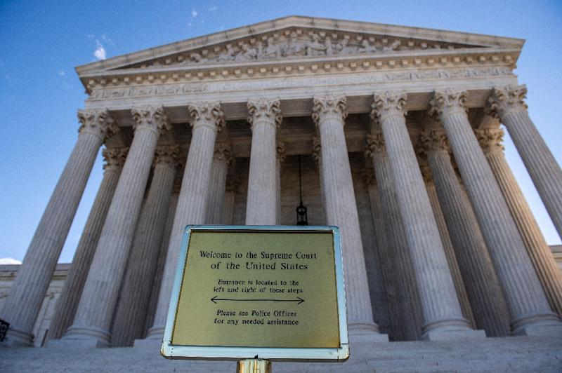 The US Supreme Court ruled in favor of the clothing brand FUCT in a trademark case (AFP Photo/Eric BARADAT)