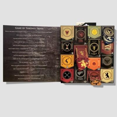 """<p><strong>Game of Thrones</strong></p><p>target.com</p><p><strong>$15.00</strong></p><p><a href=""""https://go.redirectingat.com?id=74968X1596630&url=https%3A%2F%2Fwww.target.com%2Fp%2Fmen-39-s-game-of-thrones-15-days-of-socks-in-a-box-socks-colors-may-vary-6-12%2F-%2FA-54631701&sref=http%3A%2F%2Fwww.delish.com%2Ffood%2Fg25256834%2Fgame-of-thrones-gifts%2F"""" target=""""_blank"""">BUY NOW</a></p><p>You can never have enough socks.</p>"""