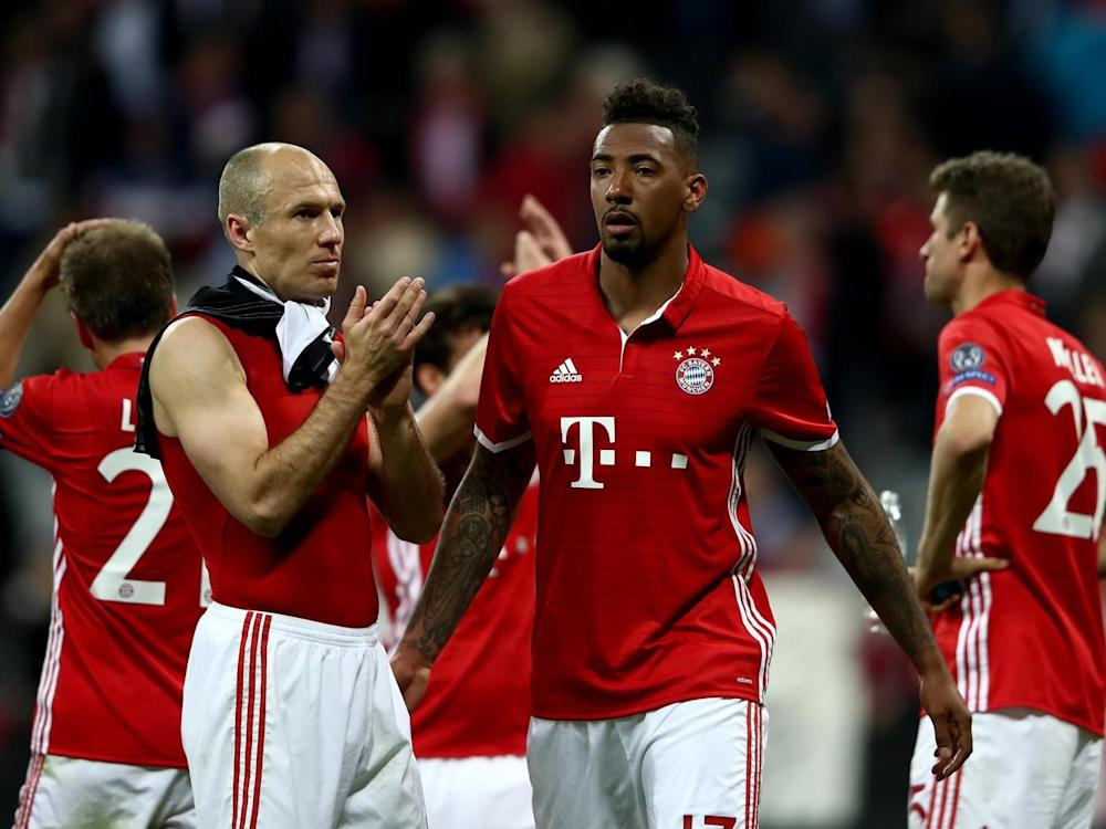 Bayern's players were crestfallen at the final whistle (Getty)
