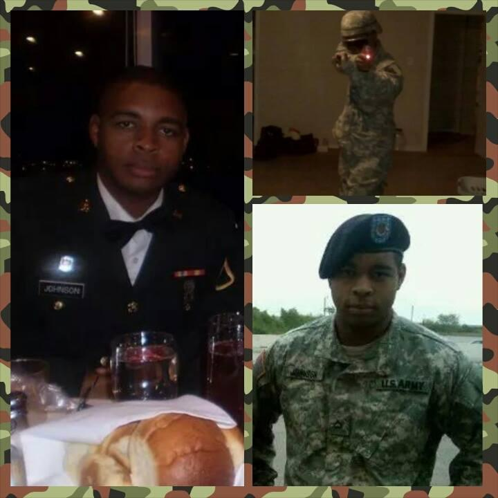 A collage of photos of shooter Micah X. Johnson, from his sister's Facebook page.