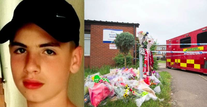 Louis-Ryan Menezes was stabbed to death on Drayton Walk in Northampton last year (SWNS)