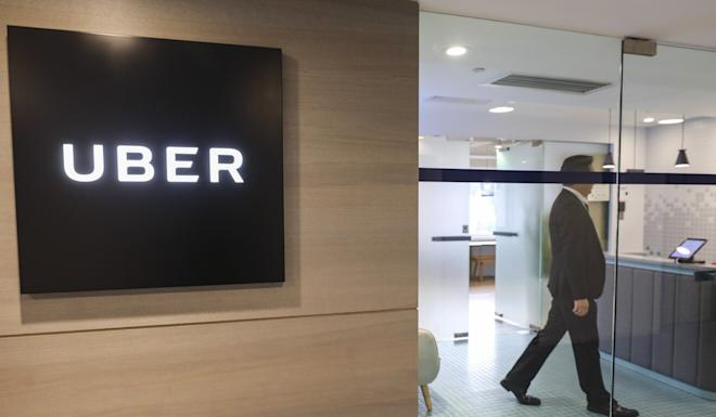 The Uber office in Hong Kong's Causeway Bay. The city has about 14,000 active Uber drivers. Photo: Felix Wong