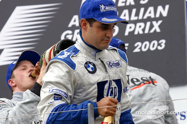 "El podio: Juan Pablo Montoya <span class=""copyright"">Brousseau Photo</span>"