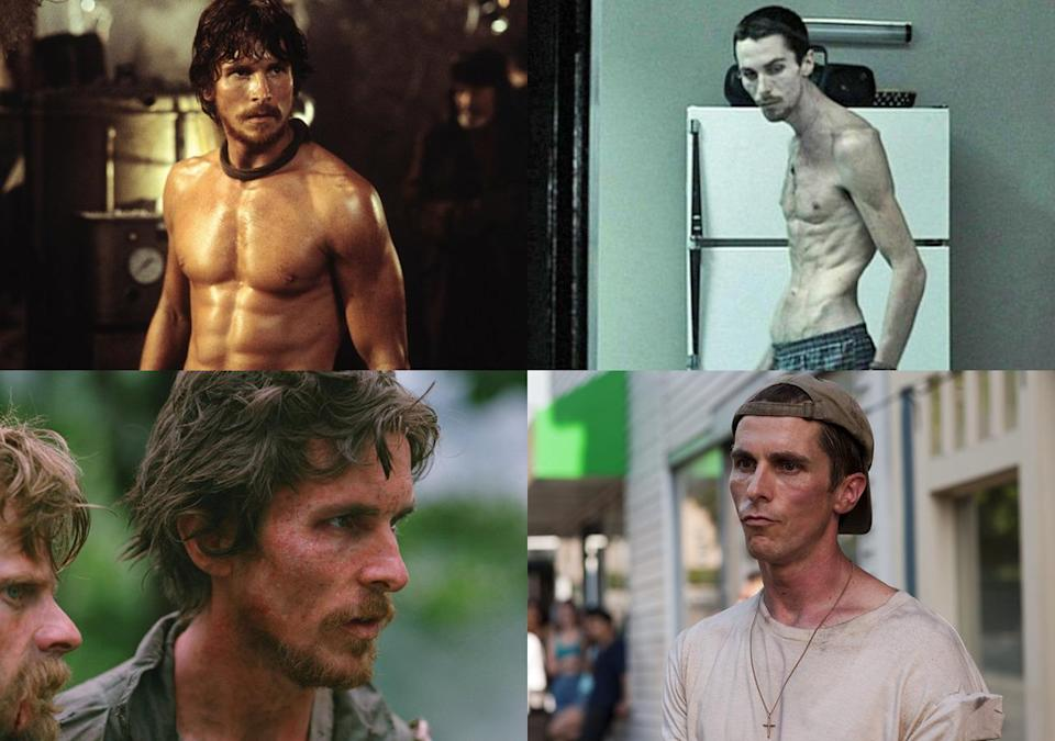 <p>Bale's ability to transform his body for movie roles is legendary. His size has yo-yoed dramatically over the years, but none more so that for 'The Machinist'. He dropped 60lbs (over 4 stone) and was positively skeletal for the pyschological thriller.</p>