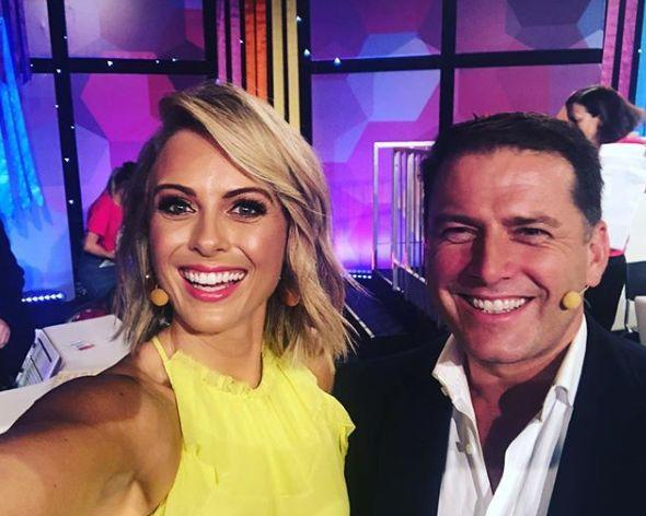 Sylvia Jeffreys pictured with Karl Stefanovic