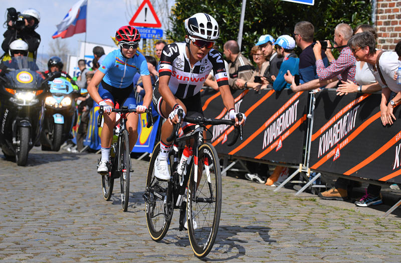 Coryn Rivera takes on the cobbles at 2017 Tour of Flanders Women
