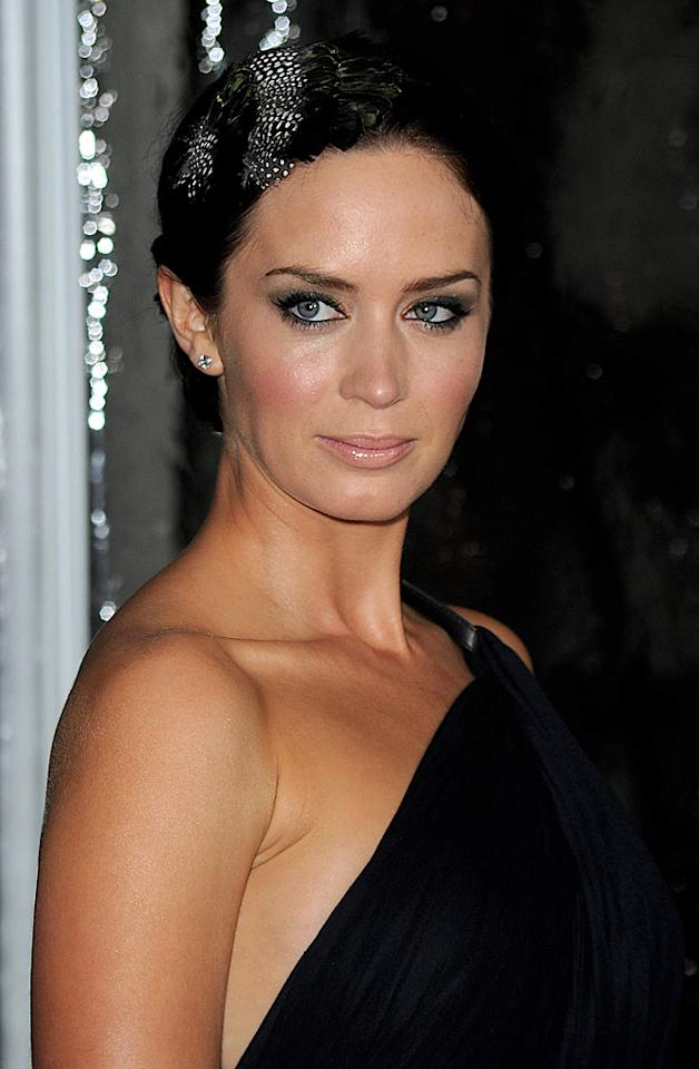 """Whether on the red carpet for a premiere or at a black-tie gala, """"The Devil Wears Prada's"""" Emily Blunt vamps up her look with the celebrity makeup trend of choice: a smoky eye. Jason Merritt/<a href=""""http://www.gettyimages.com/"""" target=""""new"""">GettyImages.com</a> - February 9, 2010"""