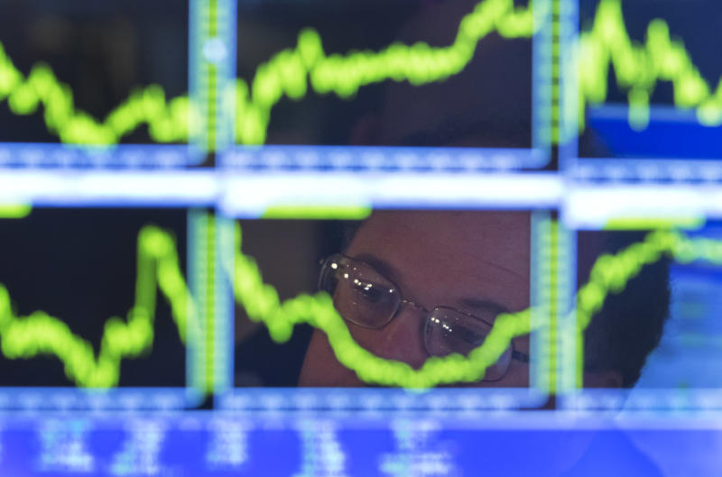Stocks decline as a busy week for markets begins