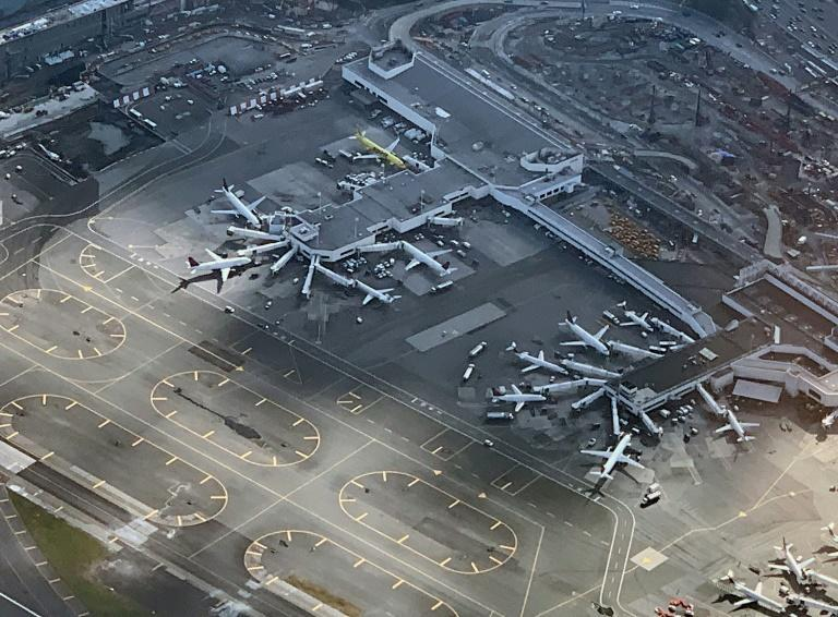 New York's LaGuardia airport faced delays linked to a government shutdown that forced many aviation workers to work without pay -- and some called in sick instead