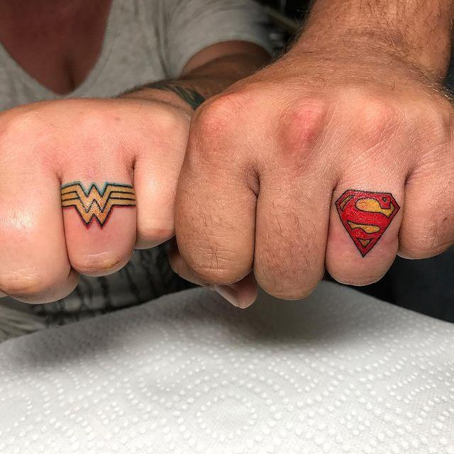 """<p>If you're the Wonder Woman to his Superman, you need to get these matching superhero tattoos.</p><p><a href=""""https://www.instagram.com/p/BWenPgxlkcQ/?utm_source=ig_embed&utm_campaign=loading"""" rel=""""nofollow noopener"""" target=""""_blank"""" data-ylk=""""slk:See the original post on Instagram"""" class=""""link rapid-noclick-resp"""">See the original post on Instagram</a></p>"""