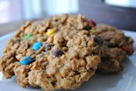 "<p>Montana Monster Cookies, first created by a bakery in Bozeman, are virtually kitchen-sink cookies, combining whatever fun ingredients you have hiding in your pantry. The staples include oats, peanut butter, chocolate chips and raisins.</p><p>Get the recipe from <a href=""http://sweetstateofmine.blogspot.com/2012/03/montana-montana-whoppers.html"" rel=""nofollow noopener"" target=""_blank"" data-ylk=""slk:Sweet State of Mine"" class=""link rapid-noclick-resp"">Sweet State of Mine</a>.</p>"
