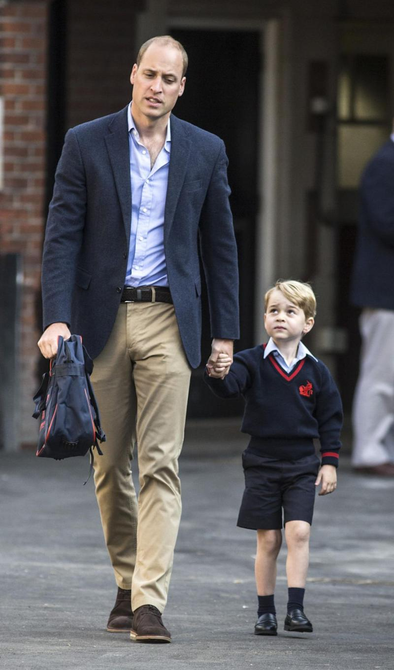 George went to a different pre-school to Charlotte and now attends Thomas's Battersea. Photo: Getty